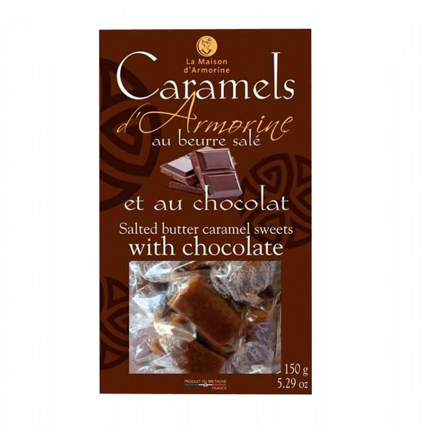 Chocolate Salted Butter Caramel Sweets Toffees - La Maison d'Armorine 150g